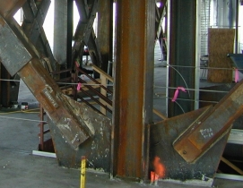 Buildings with rocking steel-braced frames are advantageous in earthquakes