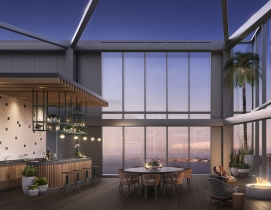 The Avery, a 618-foot residential tower designed by Rem Koolhaas' OMA.
