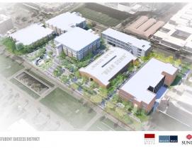 Bird's eye view of UA Student Success District