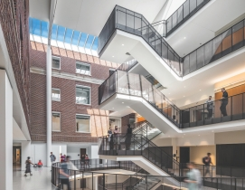 Top 40 Science and Technology Sector Construction Firms for 2019, 2019 Giants 300 Report, John T. Tate Hall at the University of Minnesota, constructed by JE Dunn, Photo Brandon Stengel