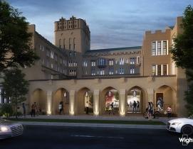 UC Wellness Historic colonnade