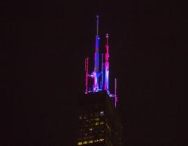 Willis Tower lights