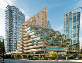 The 232-foot-tall Terrace House luxury condo development will be the tallest hybrid wood structure in North America.