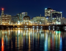 Hartford at night