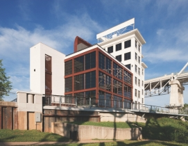 The Bridge Building on the Cumberland River in Nashville was recently transforme