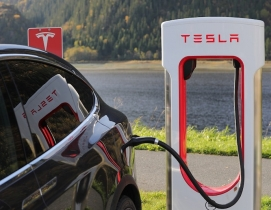 Tesla supercharger and Model X
