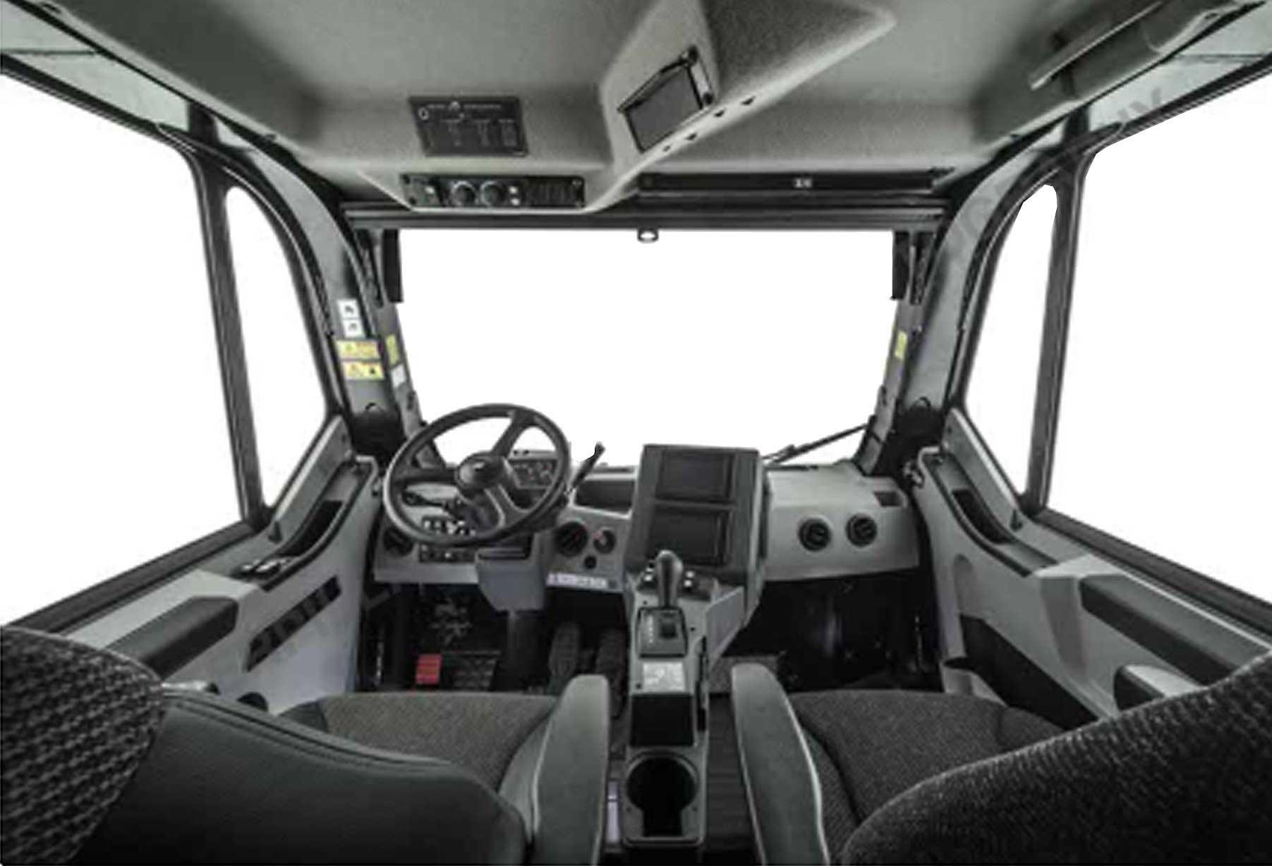 The redesigned cab in the Cat 777G is easier to enter and exit