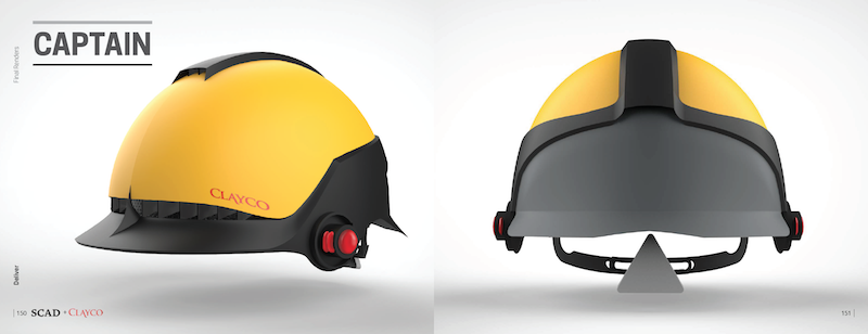 Clayco has selected two hard hat designs, The Captain and Pollux, to manufacture. These were chosen from eight concepts. Image: Clayco