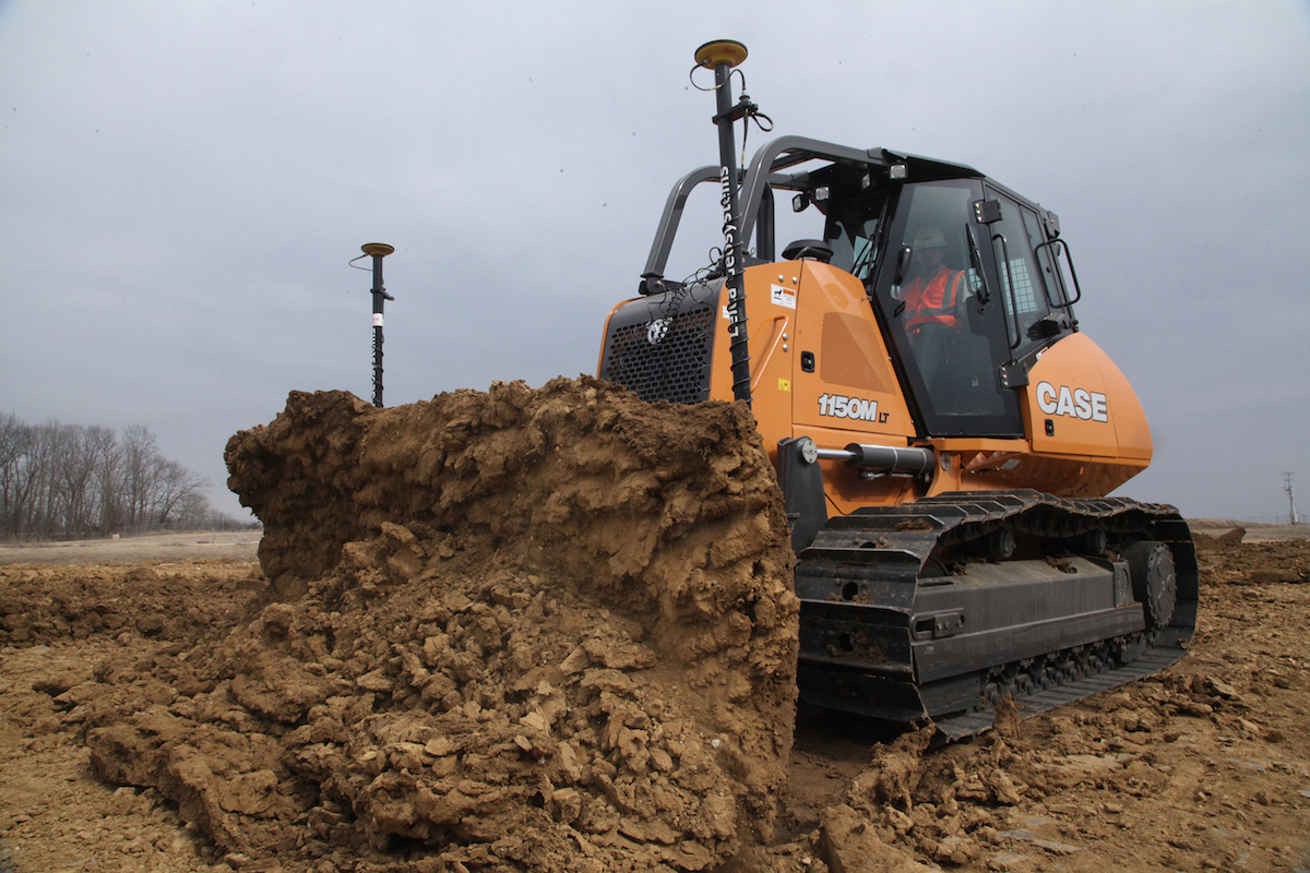 Case universal machine control option allows dealer installation of Topcon, Trimble, and Leica Geosystems products