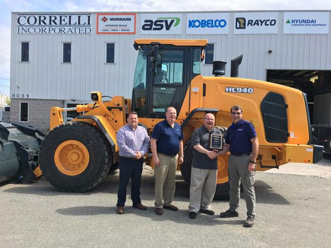 Hyundai Construction Equipment Americas has added Correlli Inc. as a distributor.