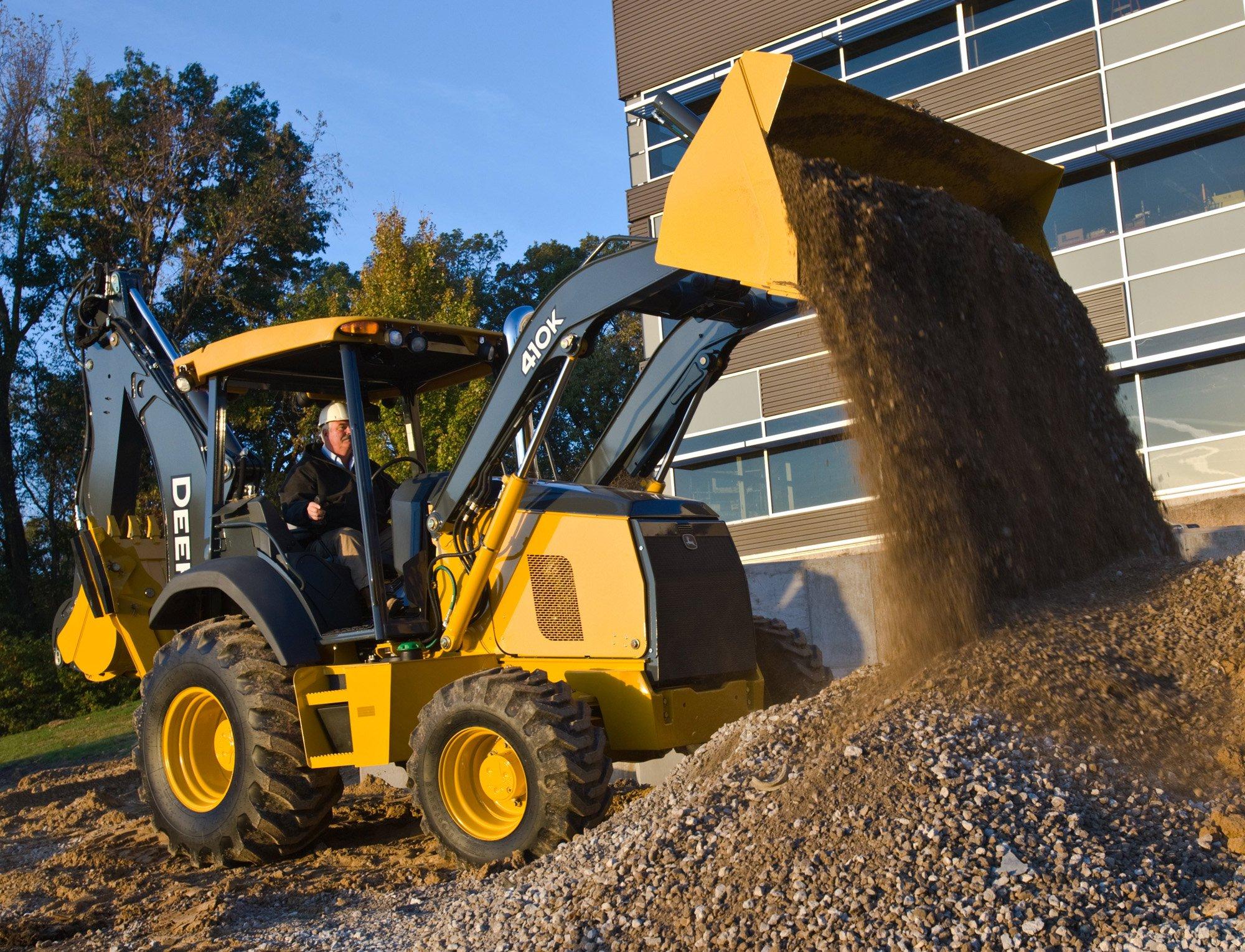 Deere Debuts Eight K-Series Backhoe Loaders   Construction