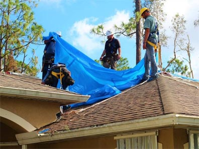 Operation Blue Roof is a free service managed by the U.S. Army Corps of Engineers for FEMA