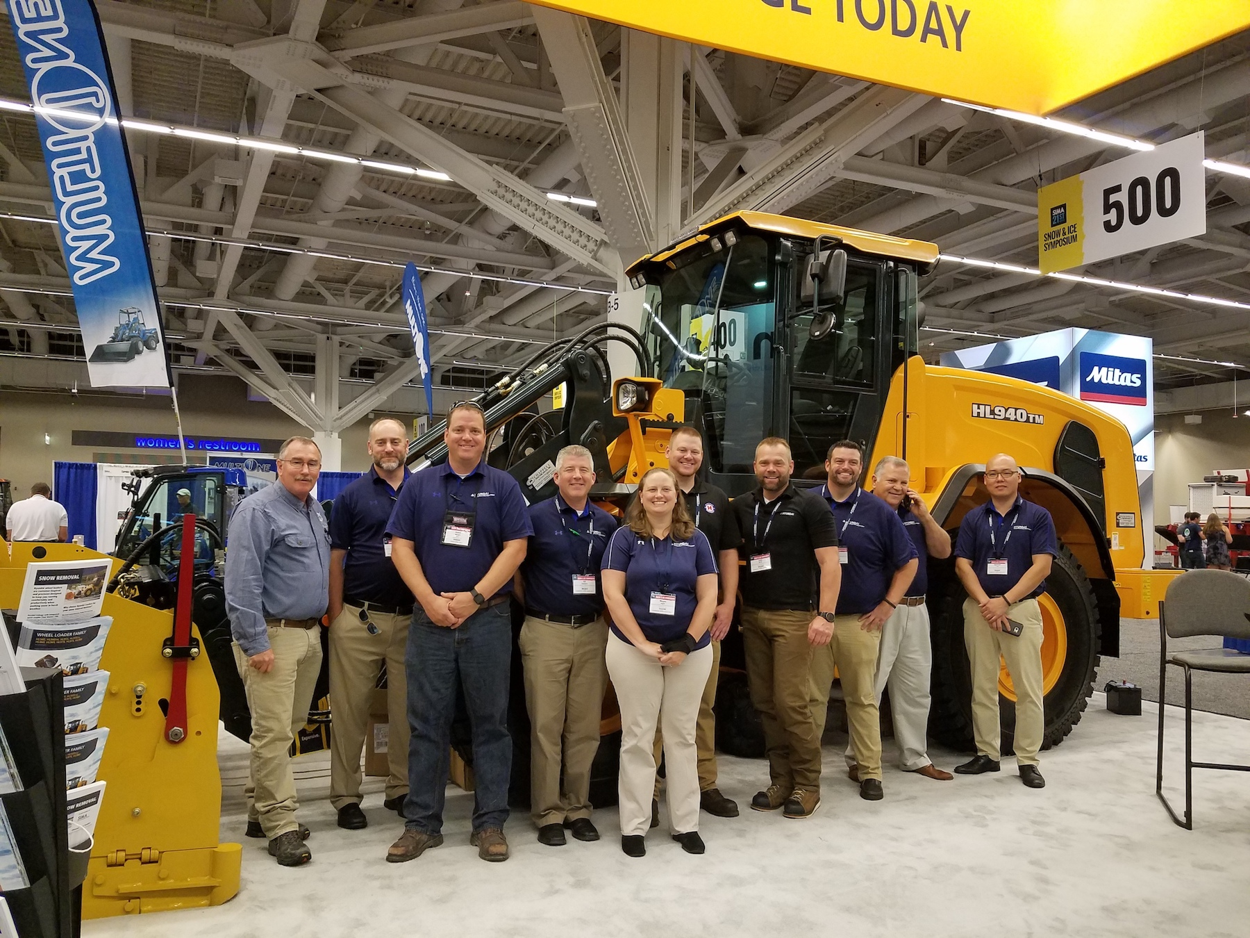 Hyundai sold 20 wheel loaders during the Snow Ice Management Association Symposium