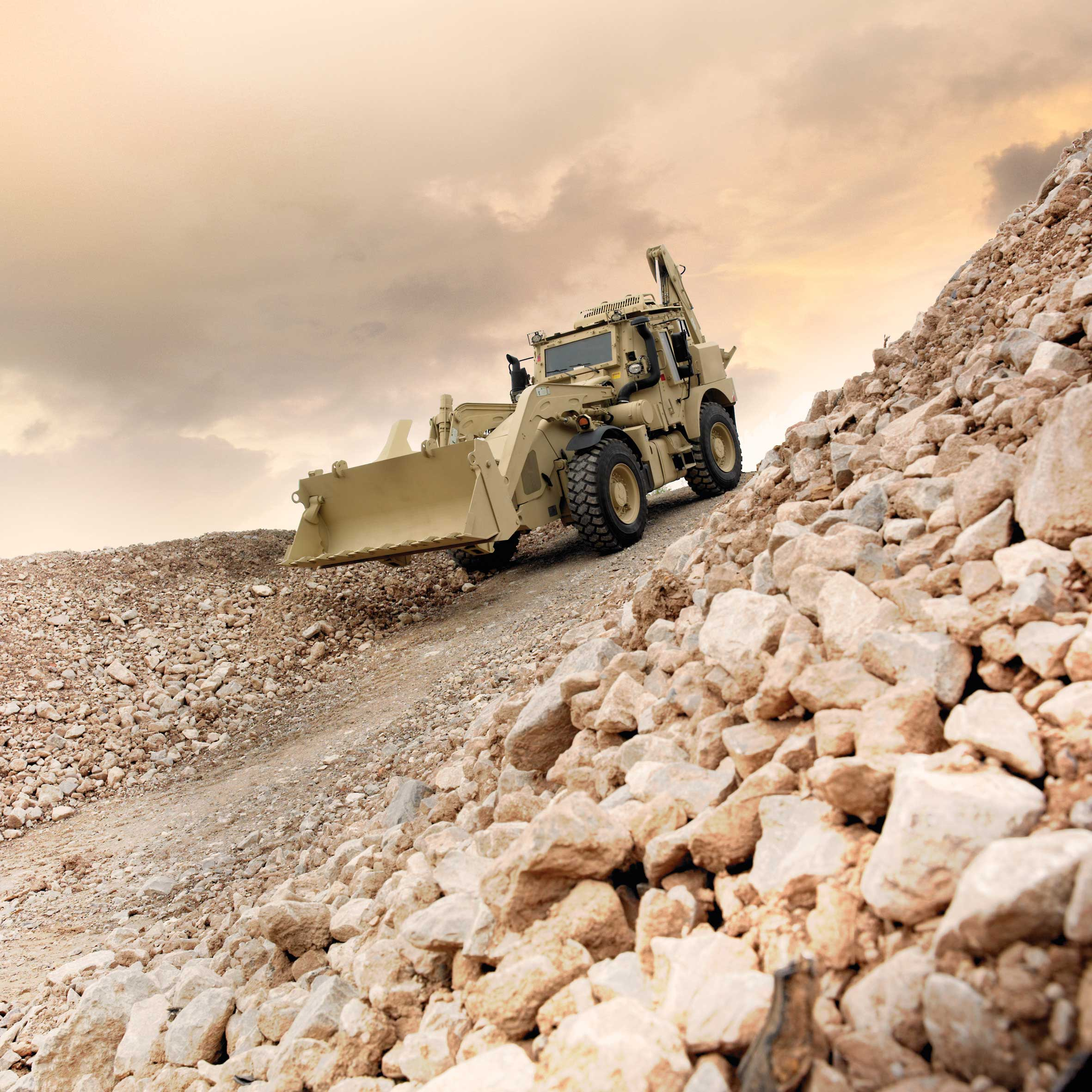 JCB  HMEE is used to perform a range of military and disaster relief missions