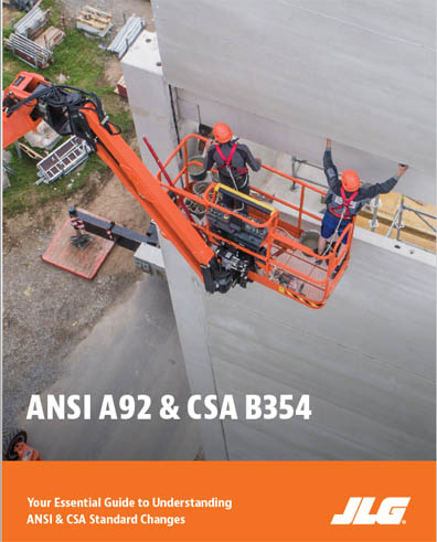 ANSI A92 and CSA B354 standards govern the access equipment industry