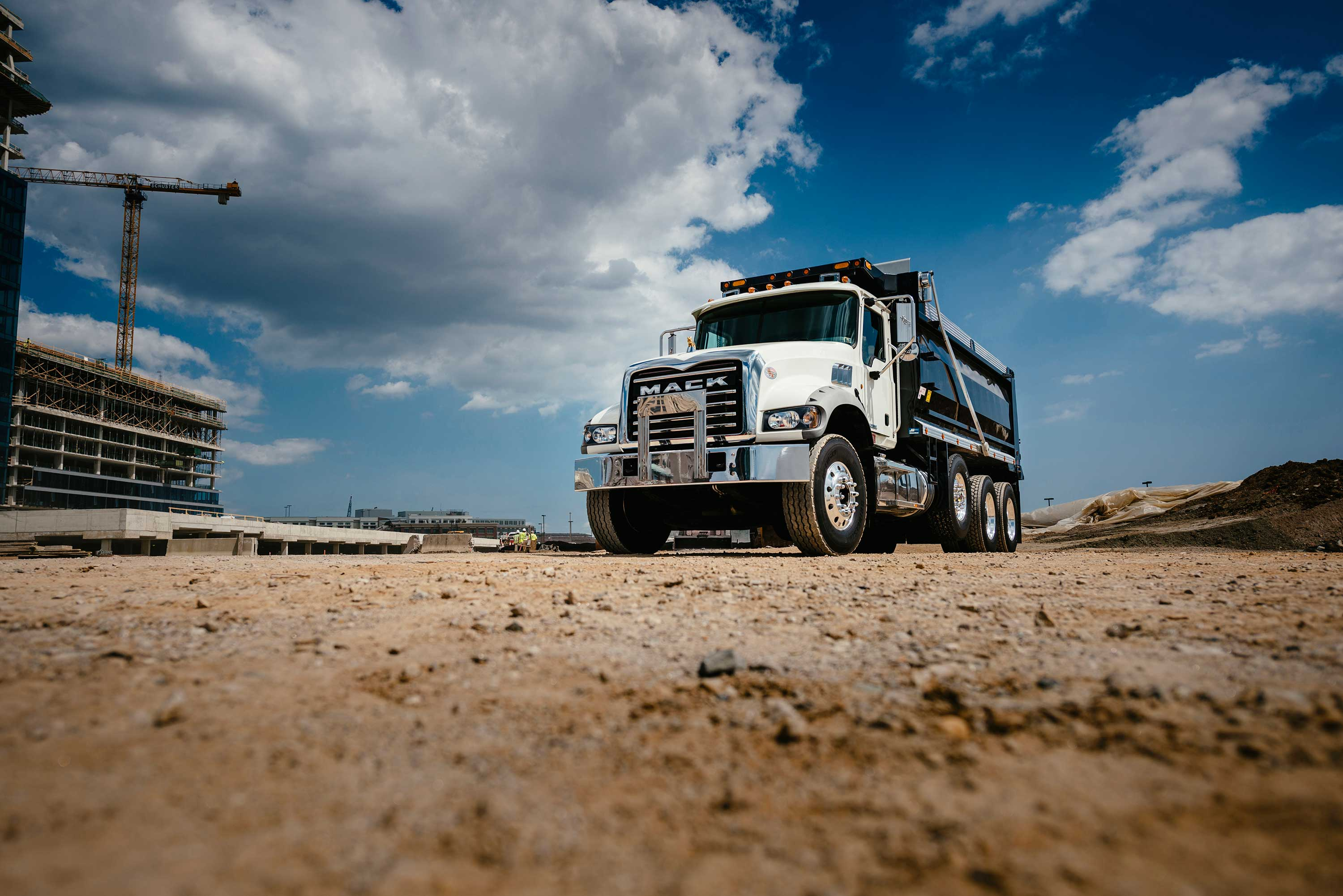 Remote software and operating parameter updates can be sent to Mack Granite construction trucks