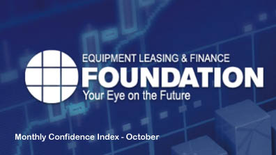 October 2017 Monthly Confidence Index for the Equipment Finance Industry was 63.7