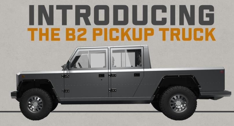 Bollinger Motors all-electric B2 Pickup Truck.