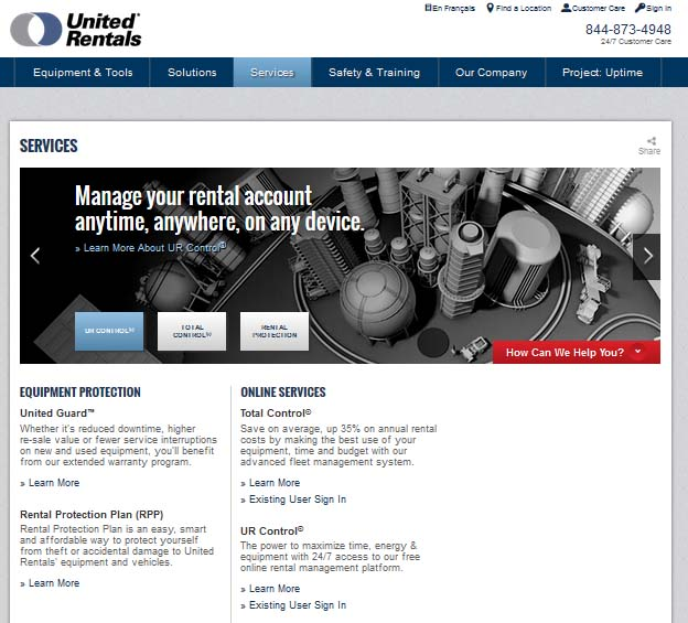 Rental Site: United Rentals Launches Online Rental Site
