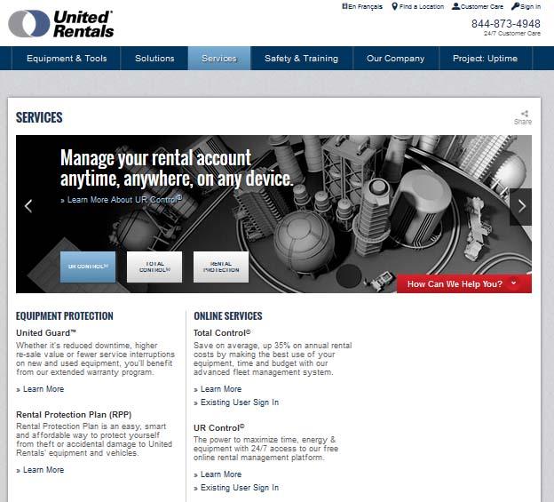 Apartment Rental Site: United Rentals Launches Online Rental Site