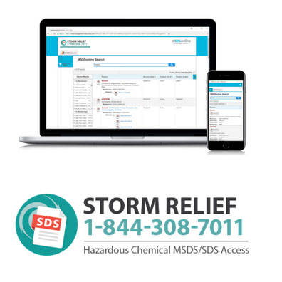 Free Online Access to MSDS Info for Harvey Cleanup