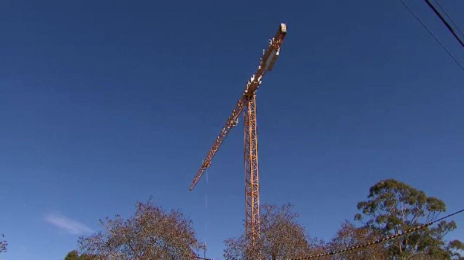 Crane on site.