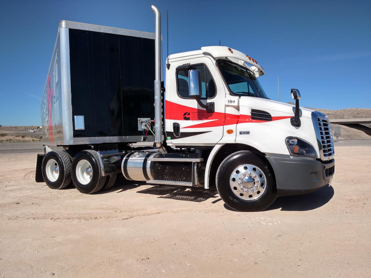 Our test rig was a Freightliner Cascadia day cab.