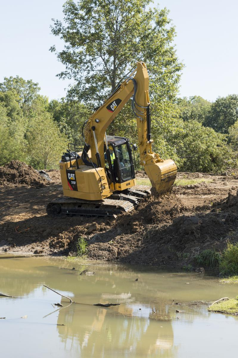 """Manufacturers have increased power, productivity, and efficiency as technologies """"cascade"""" down from larger excavators."""