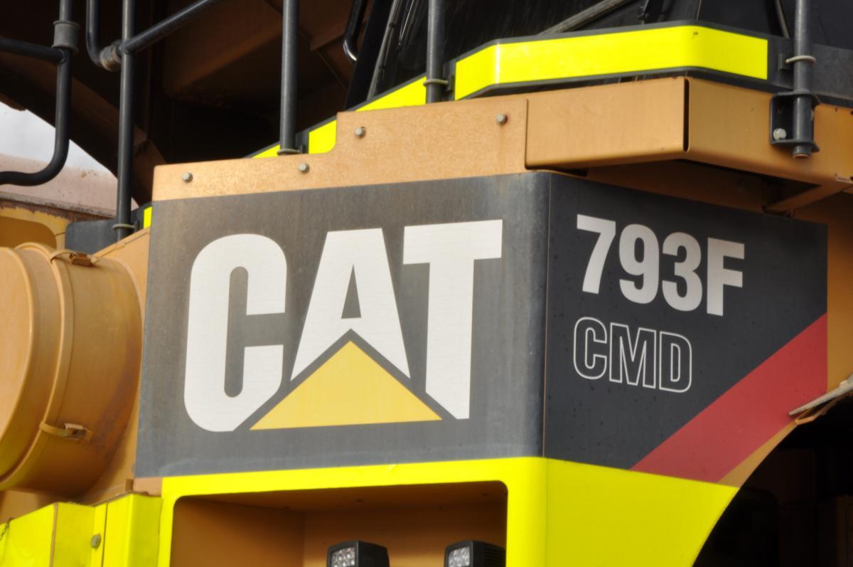 CMD badge will identify the Cat autonomous haul trucks