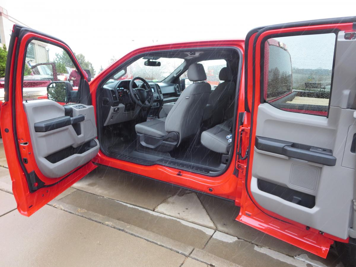 Ford SuperCab's short rear doors are rear-hinged and open almost 180 degrees