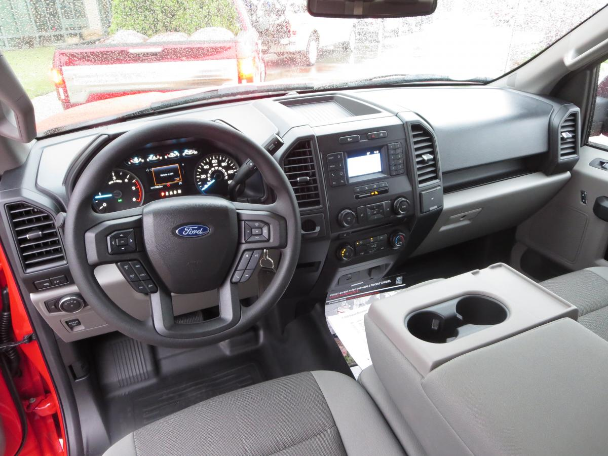 Base XL trim is simple and a bit bland in appearance, but cloth-covered contoured seats were supportive and comfortable.