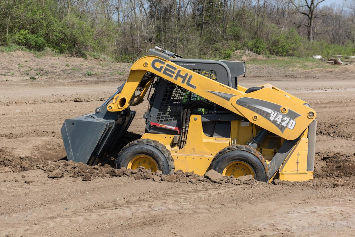 Gehl V420 was an aggressive excavator when Local 649 operator Bobby Kisner put it to the test.