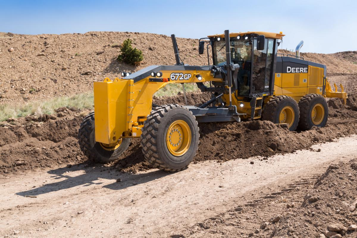 Deere graders will no doubt be followed by Wirtgen pavers and Hamm rollers