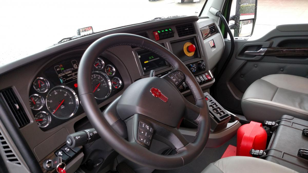 The interior is much like that of a standard Kenworth T680