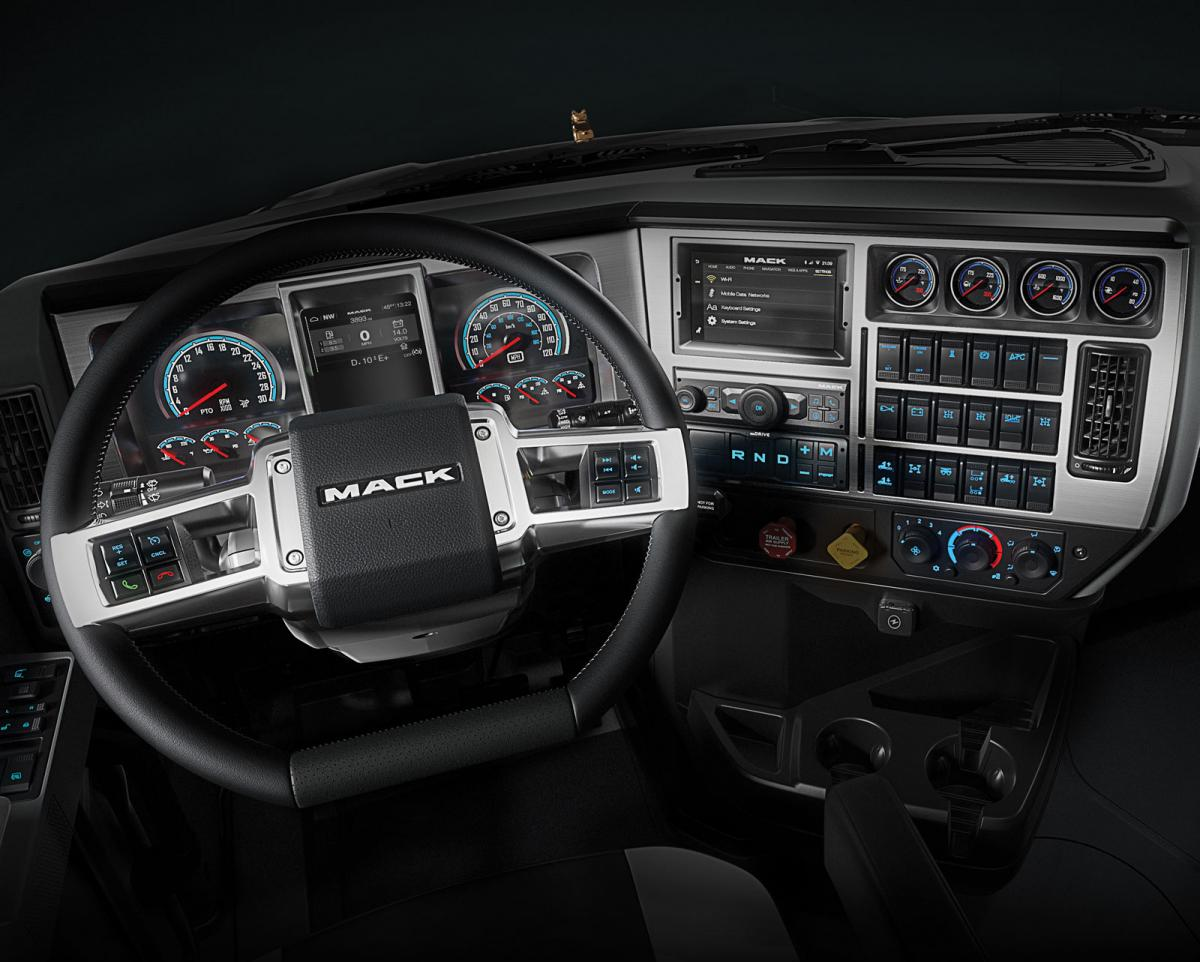 The vocational Granite and current Pinnacle highway model will share a new interior with the Anthem.