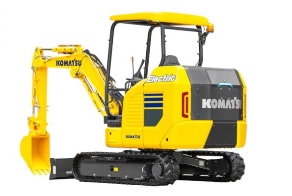 Komatsu's new electric mini excavator.