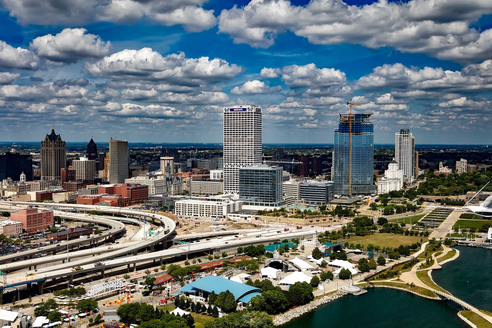 Milwaukee from above.