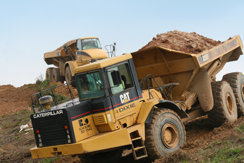 DXI relies on GPS to move thousands of yards of dirt per project.