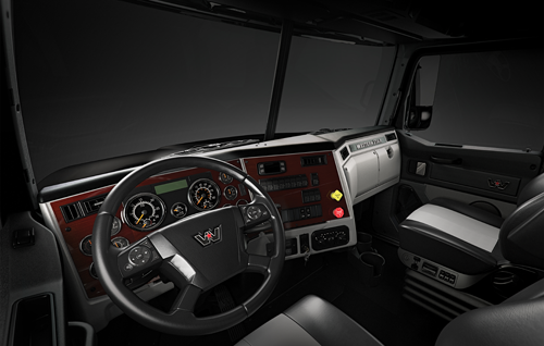 Larger gauges on the WS 4700 truck panel provide improved legibility for drivers
