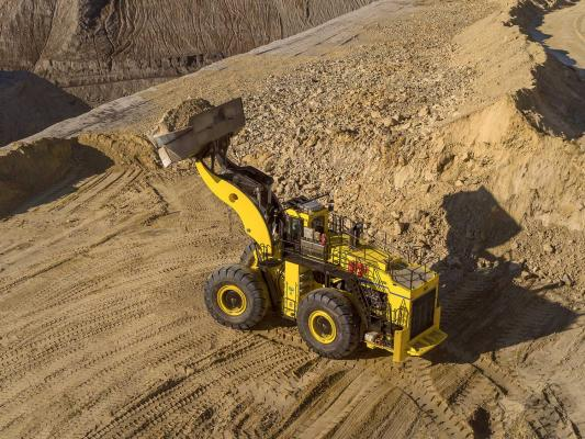 Generation-3 P&H L-1350 Hybrid loader can store up to 1,100 horsepower