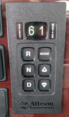 The Allison automatic uses a dash-mounted keypad.