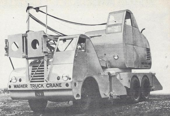 Mixermobile Manufacturers offered this 10-ton capacity crane in the 1950s.