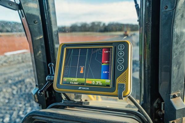 Topcon 3D-MCMAX dozer machine control system is driven by dual Inertial Measurement Units (IMUs)