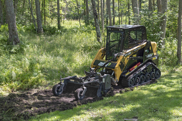 ASV RT-25 compact track loader has a rated operating capacity of 665 pounds