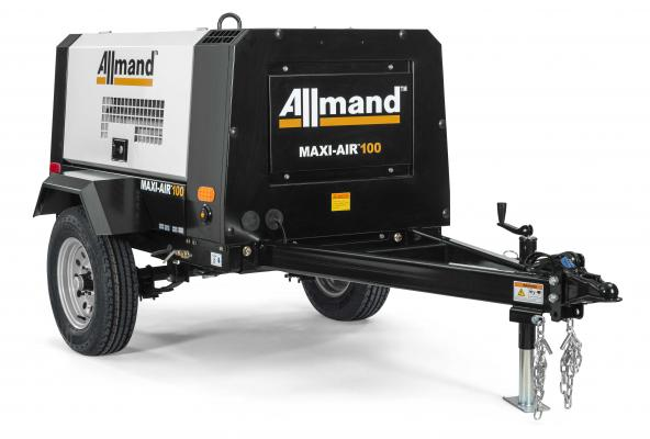 Allmand Bros Maxi Air 100 delivers 115 psi at maximum working pressure