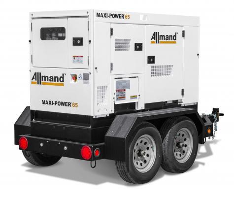 Allmand Bros Maxi-Power 65 generator delivers 63 kVA prime power