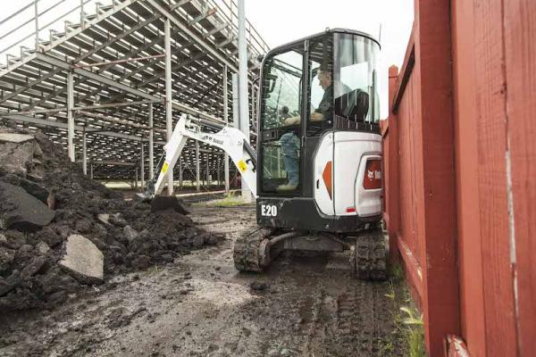 Bobcat E20 Zero Tail Swing Excavator | Construction Equipment