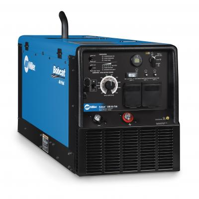 The Bobcat 200 Air Pak is an all-in-one unit that delivers compressed air, generator power, battery charging/cranking assist, and stick welding capabilities.