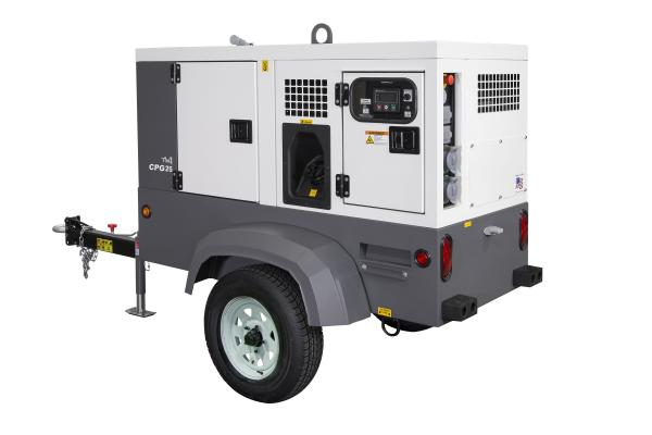 Chicago Pneumatic CPG 25, CPG 45 Generators in Skid-mount, Trailer-mount Configurations