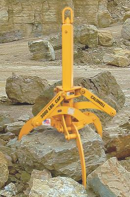 Multi-Grapple lifting system has three arms that are designed to lift wood, rock, stone, metal shavings, and scrap, and provide a stable lift of irregularly shaped heavy debris.
